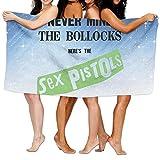 Uolongqul Sex Pistols Never Mind The Bollocks Bath Towel Vibrant Beach/Bath/Pool Towel 51.2'' X 31.5''