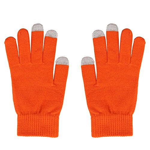 Fantastic Zone Women's Winter Stretch Cashmere Gloves for Women Solid Color Warm Knitted Thick Warm Gloves]()