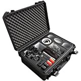 Professional transport case for Panasonic Lumix GH5 and GH5S – with a lot of space for accessories such as 3 lenses, 5 battery packs, various cables and adapters and more by MC-CASES