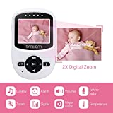 Video Baby Monitor with Night Vision Camera,Two Way Audio System,Temperature Sensor and Large Transmission Range