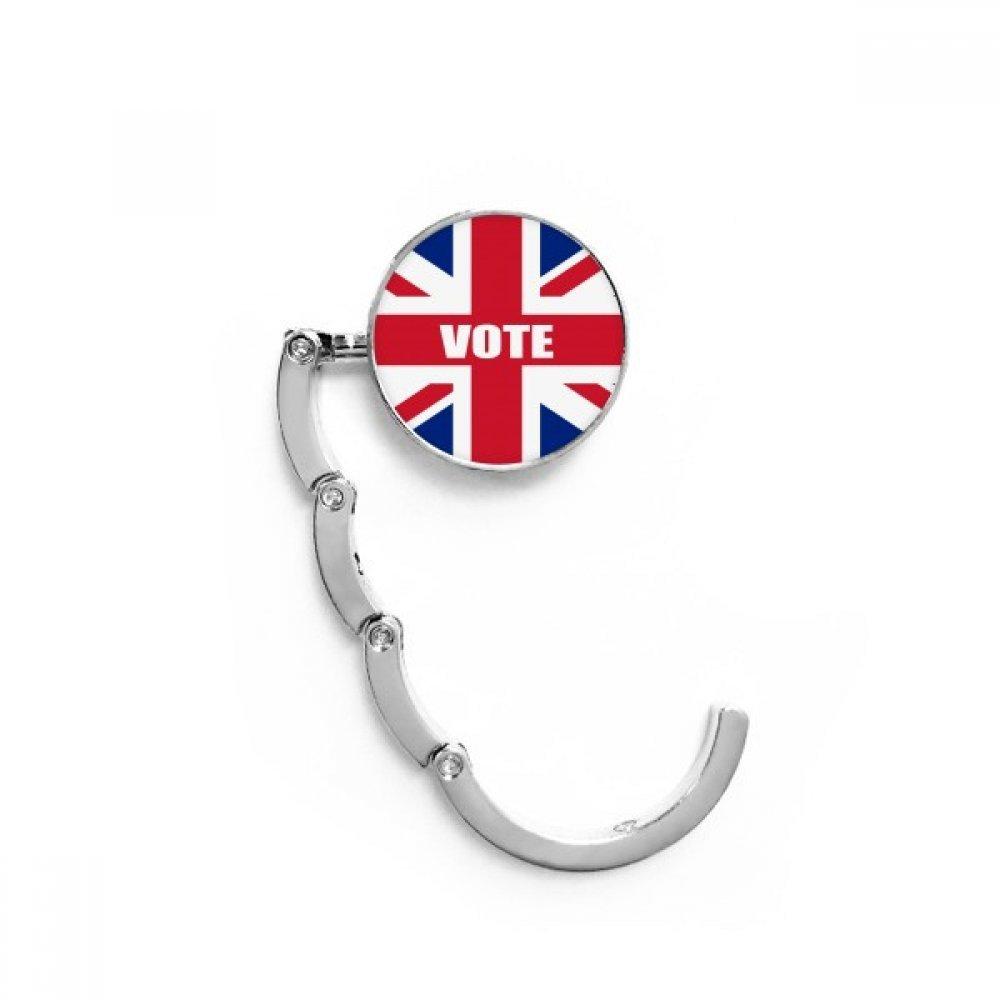 Britain UK Flag Vote For General Election Table Hook Folding Bag Desk Hanger Foldable Holder