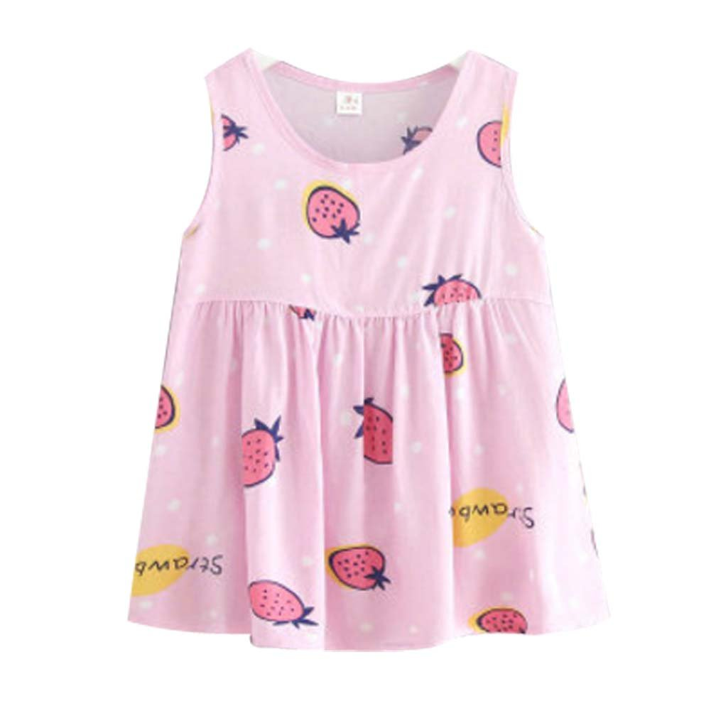 Koala Superstore [C] Kids' Pajama Home Nightdress Sleeveless Cotton Dress Vest Skirt for Girls