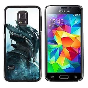rígido protector delgado Shell Prima Delgada Casa Carcasa Funda Case Bandera Cover Armor para Samsung Galaxy S5 Mini, SM-G800, NOT S5 REGULAR! /Cylon Air Future Technology/ STRONG