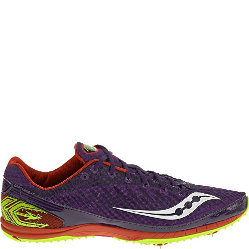 Image of the Saucony Men's Kilkenny Xc5 Spike Cross Country Spike Shoe,Purple/Red/Citron,12.5 M US