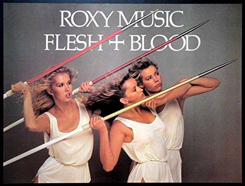 roxy-music-flesh-blood-vintage-1980-poster