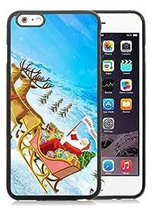 Customization iPhone 6 Plus Case,Santa Claus Black iPhone 6 Plus 5.5 TPU Case 28