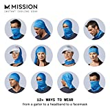 Mission Cooling Neck Gaiter 12+ Ways To Wears, Face Mask, UPF 50, Cools when Wet- Blue