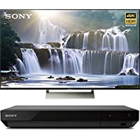 Sony XBR75X850E 75 4K HDR Triluminos UHD LCD Android TV with Google Home Compatibility 3840x2160 & Sony UBPX700 Ultra HD BluRay Player with Dolby Vision