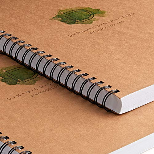 Spiral Bound NON Perforated Acid Free Cold Pressed Dynamic Distraction 9x12 Watercolor /& Drawing Pad Perfect for Painting and Sketching 140lb// 300gsm Ideal for Wet Dry /& Mixed Media 38 Sheets