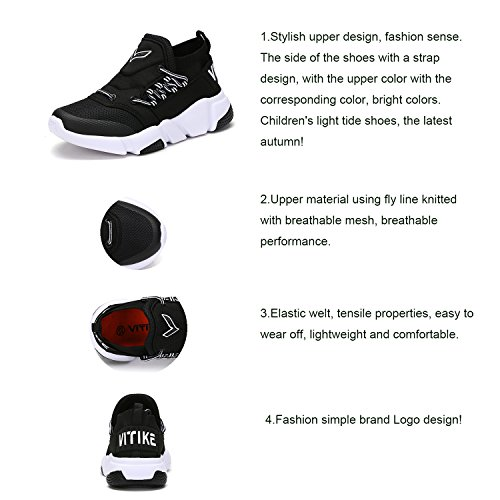 black Boy Sneakers Girl's Athletic Shoes 2 Trainers Breathable Gym Fitness Casual Running ASHION Vamp xOTnzfw