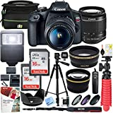 Canon EOS Rebel T7 DSLR Camera with EF-S 18-55mm f/3.5-5.6 is II Lens and Two (2) 16GB SDHC Memory Cards Plus Double...