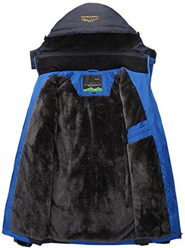 de Excursionismo Sawadikaa Chaqueta Oscuro Esquí Azul Capa Chubasqueros Libre Chaqueta Hombre Deporte Aire Impermeable de Al Nieve de Lana Ropa w11ESpq