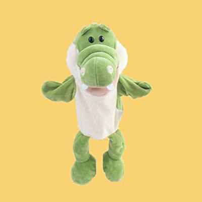 loinhgeo-Cute Cartoon Alligator Crocodile Kids Hand Puppet Soft Doll Stuffed Plush Toy: Toys & Games