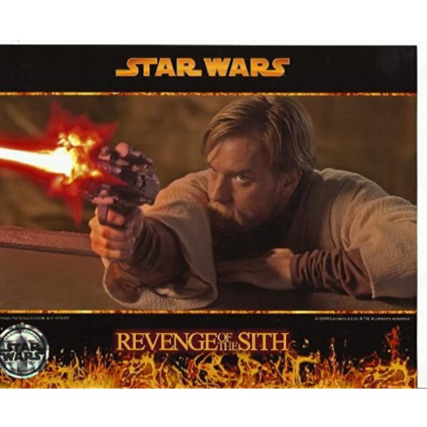 Star Wars Photo Ewan Mcgregor As Obi Wan Kenobi 8 X 10 Inch Photo Shooting Blaster At Amazon S Entertainment Collectibles Store