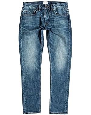 Men's Distorsion Medium Blue 32 in. Slim Fit Jeans and HDO Travel Sunscreen (15 SPF) Spray Bundle