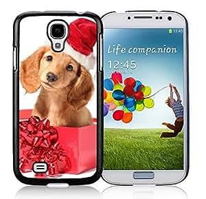 Customization Samsung S4 TPU Protective Skin Cover Christmas Dog Black Samsung Galaxy S4 i9500 Case 4