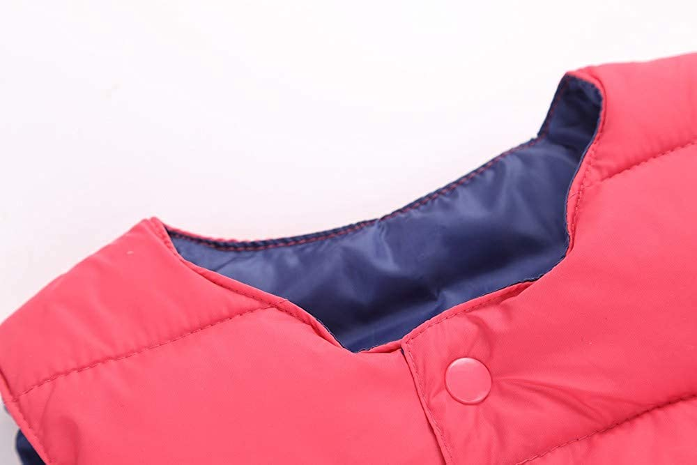 Childrens Kids Baby Girls Boy Sleeveless Animal Print Warm Jacket Waistcoat Tops