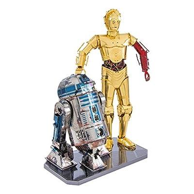 Metal Earth Fascinations Star Wars R2 D2 C 3po Gift Box Puzzle In Metallo 3d Giocattoli Da Costruzione Modelli Di Taglio Laser