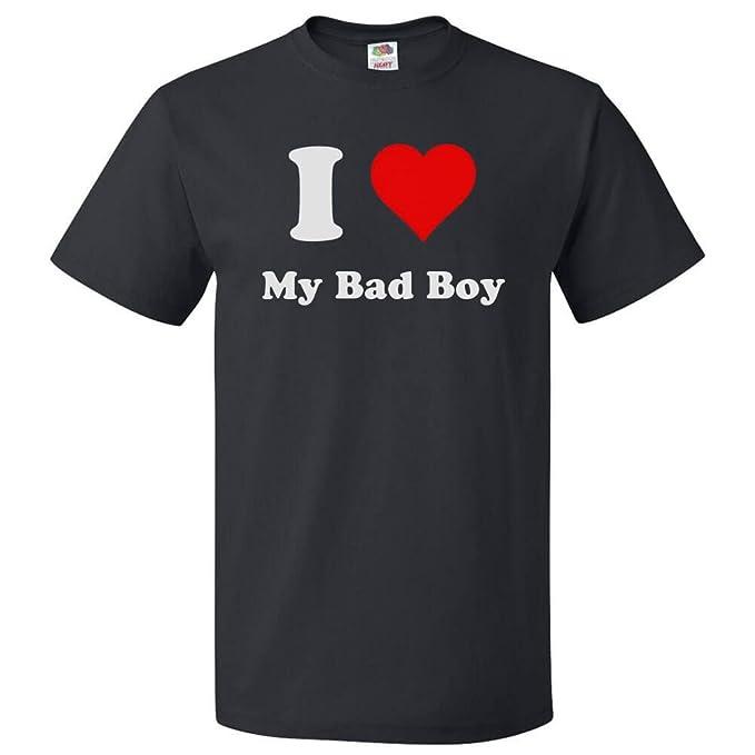 d1ae9f3c Amazon.com: ShirtScope I Love My Bad Boy T shirt I Heart My Bad Boy ...