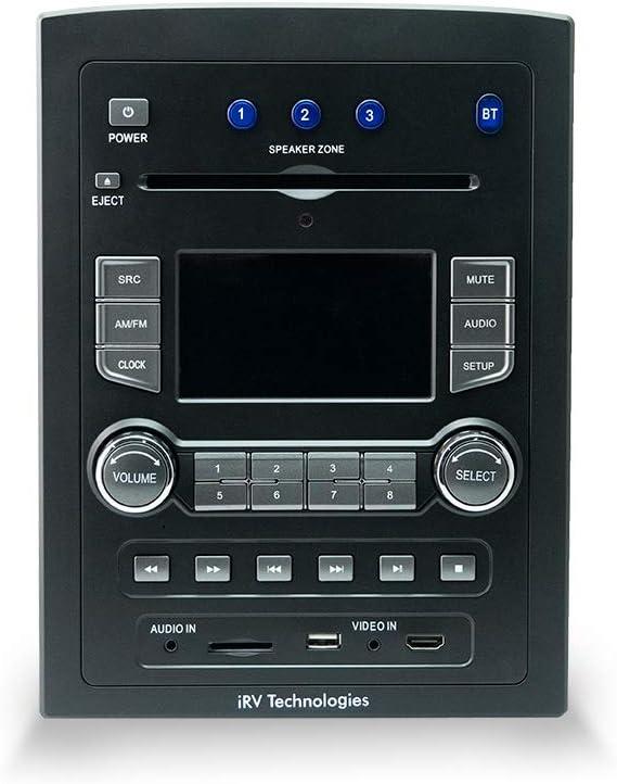 iRV Technology iRV66 Surround Sound/Bluetooth 3 Zones wall mount RV Radio Stereo with wire adaptor Concertone
