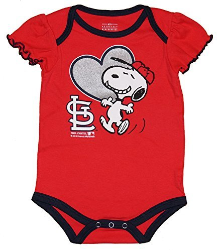 (Genuine Merchandise St. Louis Cardinals Infant Girls Snoopy Bodysuit (0-3 Mo))