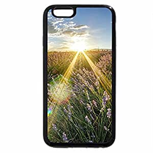 iPhone 6S Plus Case, iPhone 6 Plus Case, fantastic sunbeams over field of wildflowers