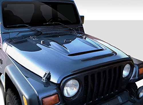 Extreme Dimensions Duraflex Replacement for 1997-2006 Jeep Wrangler Heat Reduction Hood (Must be Used with Highline fenders) - 1 - Kit Extreme 98 Dimensions