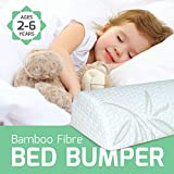 IndieGear [1-Pack] Bamboo Fibre Foam Bed Bumper | FREE NIGHTLIGHT | For Toddlers Kids Adults Seniors Baby Infants- Safety Side Bed Guard | Bumpers For Cribs King Queen Full Twin Size Beds| Body Pillow: more info