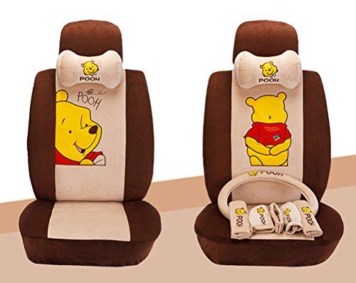 cb9daac11e6b 1 Set Cartoon Pooh Universal Car Front