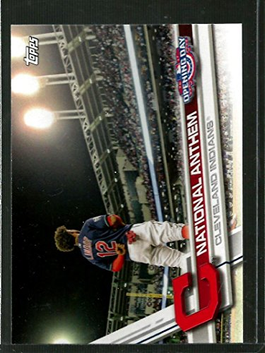 2017 Opening Day National Anthem #NA-10 Francisco Lindor 1:210 packs NM-MT Indians