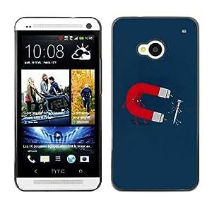 LASTONE PHONE CASE / Carcasa Funda Prima Delgada SLIM Casa Carcasa Funda Case Bandera Cover Armor Shell para HTC One M7 / Funny Magnet & Nail