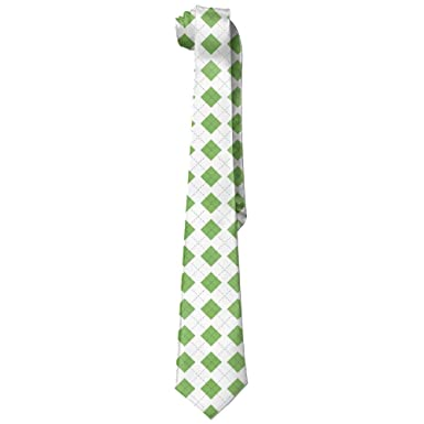 deyhfef Green Color Argyle Corbata Skinny Ties: Amazon.es: Ropa y ...
