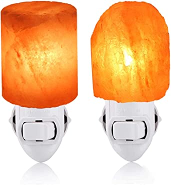 KX&VV Lámpara de Sal de Himalaya Lámpara de Mesa giratoria Luz de ...