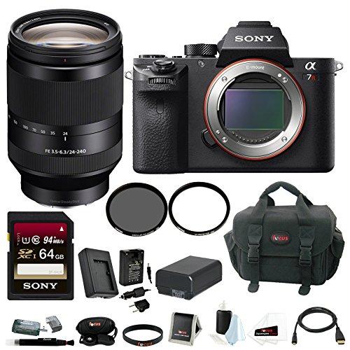 Sony Alpha a7RII Mirrorless Digital Camera Body with 24-240mm f/3.5-6.3 OSS Lens