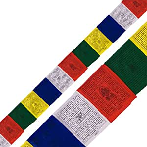 The New Age Source Tibetan Prayer Flag 25 Flap Traditional Each