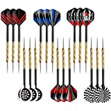 Accmor Steel Tip Darts, Professional Metal Darts, Detachable Steel Darts, 18 pcs