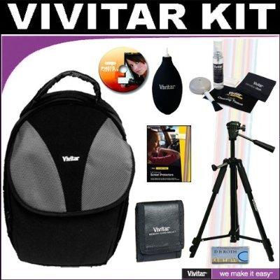 Vivitar Deluxe - Mochila bandolera para cámara réflex + Vivitar ...