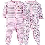 Gerber Baby Girls 2 Pack Zip Front Sleep 'n