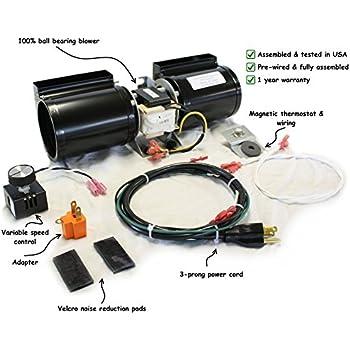 51yJBaEK9dL._SL500_AC_SS350_ amazon com durablow gfk 160 fireplace stove blower complete kit for
