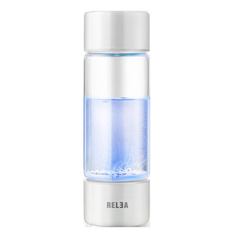 ポータブル4分水素リッチウォーターボトル再充電可能な高濃度水素ジェネレーターガラスボトルアンチエイジング抗酸化アルカリウォータージェネレーター、360ml B07H6CR9C5 B