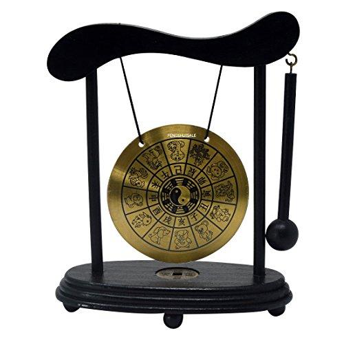 - fengshuisale Zen Art Brass Feng Shui Desktop Zodiac Gong W Red String Bracelet W3359