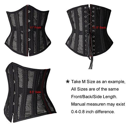 Bianco HLGO 26 Shaper Intimo corsetto traspirante Training vita Donna Modellante Acciaio Mesh Doppio rg7wCxqar