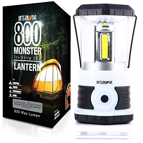 Internova 800 Monster LED Camping Lantern - Massive Brightness with Tri-Strip Lighting LED Lantern - Emergency - Backpacking - Hiking - Auto - Home - College (Yeti White LE)