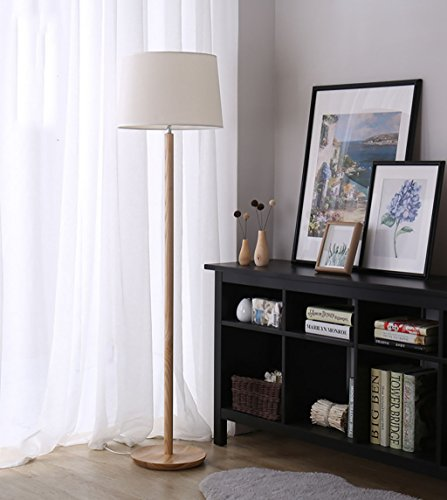 LPYMXIndoor Lighting, Simple lamp Nordic Living Room Bedroom Solid Wood Furniture Mushroom Floor lamp (Color : A) (Sustainable Living Furniture Room)