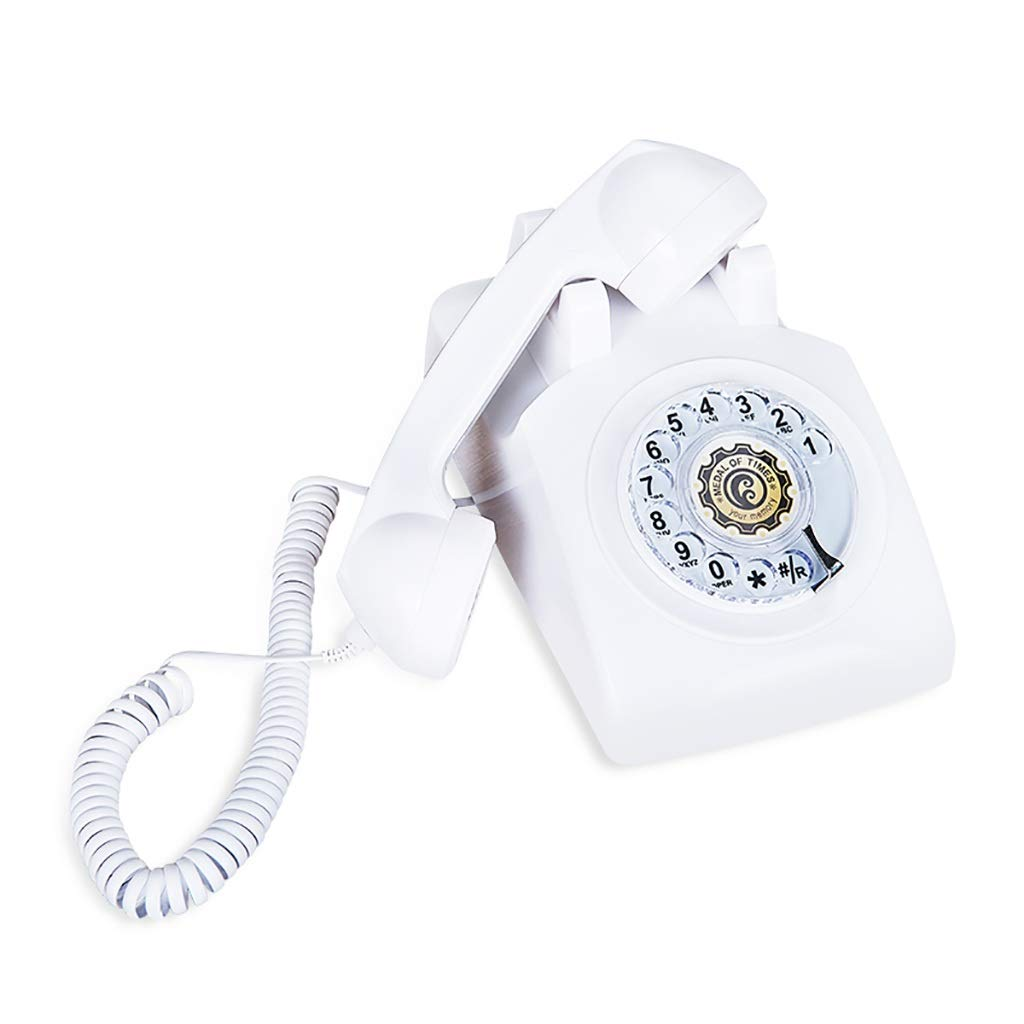 DHLIZI Teléfono Retro con Cable Hogar Americano Tocadiscos ...