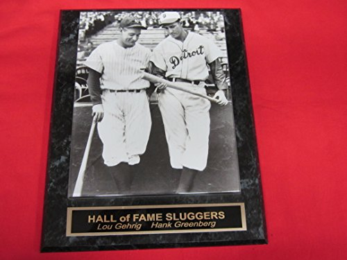 Lou Gehrig Hank Greenberg Collector Plaque w/RARE 8x10 Photo!
