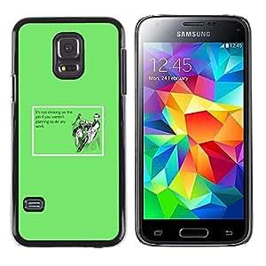 KOKO CASE / Samsung Galaxy S5 Mini, SM-G800, NOT S5 REGULAR! / trabajo de trabajo potable cita divertida lema vino / Delgado Negro Plástico caso cubierta Shell Armor Funda Case Cover