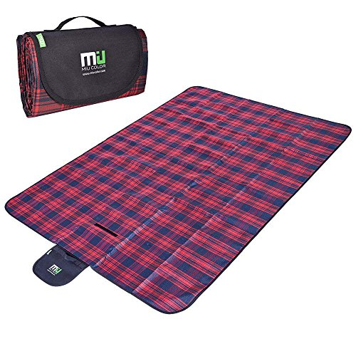 Collapsible Blanket - MIU COLOR Large Waterproof Outdoor Picnic Blanket, Sandproof and Waterproof Picnic Blanket Tote for Camping Hiking Grass Travelling Dual/Triple Layers