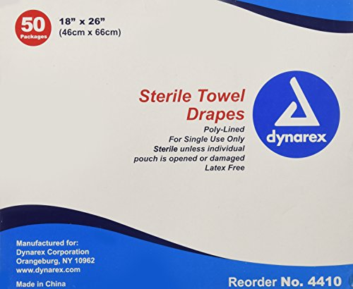 Dynarex Disposable Towel Drape Sterile - 18 X 26 inch -Sku - Pack Sterile