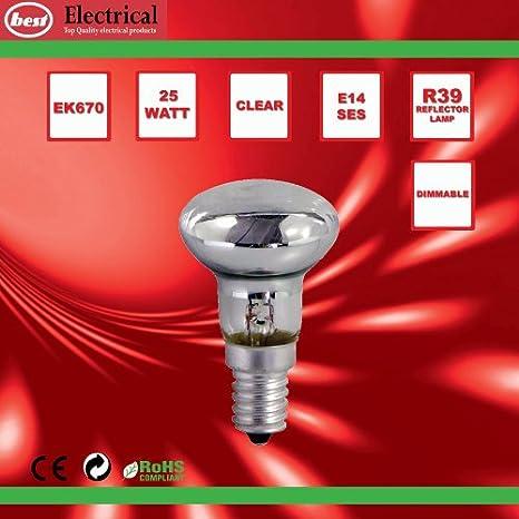 Bulk Hardware - Bombilla reflectora (25W, SES R39, 5 unidades): Amazon.es: Bricolaje y herramientas